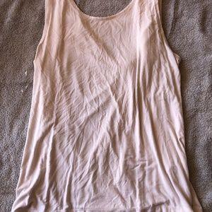 Fabletics drapey back tank top, white sz XXL